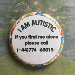 Safety Badge for Autistic Children/Adults - Personalised with Phone Number