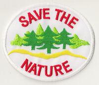 Écusson patche Save The Nature patch ecolo badge thermocollant hotfix