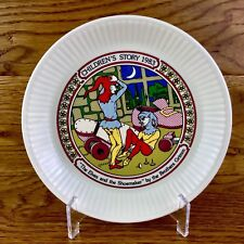 The Elves & The Shoemaker 1983 Brothers Grimm Wedgwood Plate Queensware Vintage