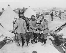 Wounded Serbian Soldier being carried New World War I WWI 8x10 Photo