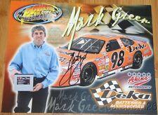 2003 Mark Green signed Deka Batteries Ford Taurus NASCAR Busch postcard