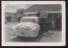 MICHIGAN/MI  REAL PHOTO Early 1950's Pontiac Cab Co Car at Casa Loma Cafe