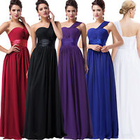 Sexy Women One Shoulder Cocktail Evening Party Gown Formal Long Bridesmaid Dress