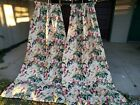 VINTAGE+RETRO+MID+CENTURY+FLORAL+BARKCLOTH+DRAPES+FOR+CUTTING+HAPPILY+MARRIED