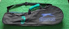 Vintage 1990s Slazenger Squash Racket Racquet Bag Teal Purple Magenta Grey Gray