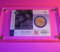 2001 Upper Deck Legends of New York Dave Winfield Yankees Game Used Bat