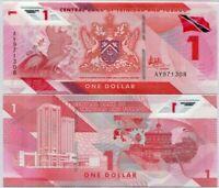 Lot 50 PCS, Trinidad & Tobago 1 Dollar, 2020/2021, P-New, Polymer, Banknote, UNC