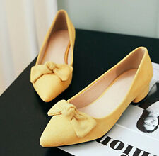 Sweet Bow Shoes womens party pointed ladys clubwear bright-color casual comfort