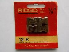 Ridgid 1/8 Npt 12-R Pipe Threading Dies Reversible O-R 111-R 11-R 00-R 37810 Red
