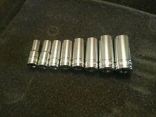 "Halfords Advanced Professional 3/8"" Drive Metric Sockets 10-19mm Deep Long (1/2"""