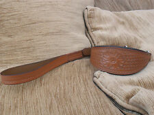 QUALITY QUICK RELEASE COLLAR AND LEAD IN Brown LEATHER
