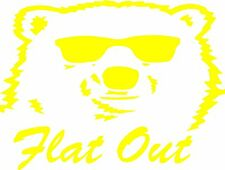 Bundy Flat Out Sticker 190 x 250 Quality Stickers UV protected