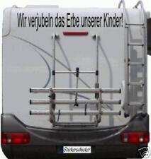 Aufkleber Wohnmobil Wohnwagen Wir Verjubeln das Erbe unserer Kinder 60cm!