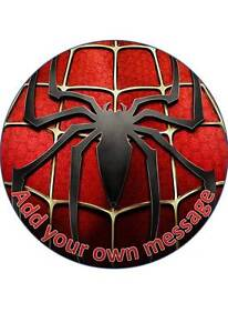 SPIDERMAN #4 PERSONALISED 7.5 INCH/19 CM EDIBLE WAFER PAPER CAKE TOPPER