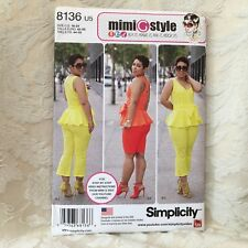 New SIMPLICITY Sewing Pattern 8136 Mimi G Style Tops, Pants Shorts Size 6-14