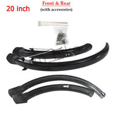 "20"" Bicycle Front & Rear Mudguard Set Durable MTB Folding Bike Permanent Fenders"