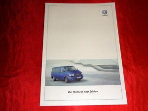 "VW T4 Multivan ""Last Edition"" Sondermodell Prospekt Brochure Depliant von 2002"