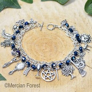 Witches Charm Bracelet - Midnight Rite - Pagan Jewellery, Wicca, Witchcraft