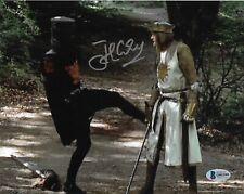 JOHN CLEESE Signed 8x10 Black Knight Monty Python Holy Grail BAS COA AUTO
