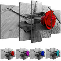 5Pcs Rose Floral Painting Canvas Wall Picture Painting Living Room Decor Printed