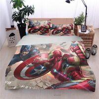 Super Hero Duvet Cover Pillow Case Quilt Cover Bedding Set Single Double King