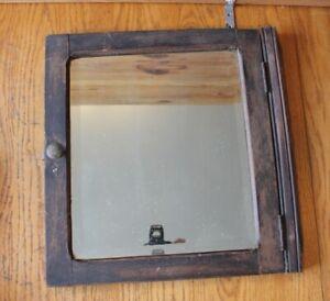 Antique Bathroom Mirror Medicine Cabinet Door Apothecary Wooden Empire Towel Co