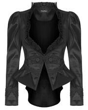 Punk Rave Womens Gothic Tailcoat Jacket Black Steampunk VTG Victorian Vampire