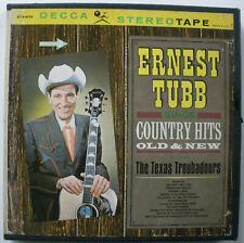 ERNEST TUBB SINGS COUNTRY HITS OLD & NEW DECCA 4 TRACK REEL TO REEL 7 1/2 IPS
