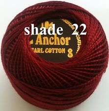 5 ANCHOR Pearl Cotton Crochet Embroidery Thread Ball.1 Flat Postage / Free on 10