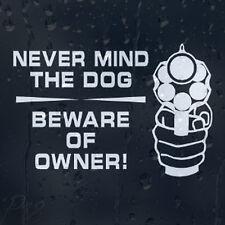No Importa El Perro Cuidado Del Propietario Auto O Casa de seguridad de la calcomanía pegatina de vinilo