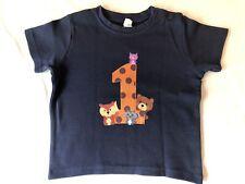 Jungen T-Shirt Baby 1. Geburtstag / Nummer 1  Größe 80