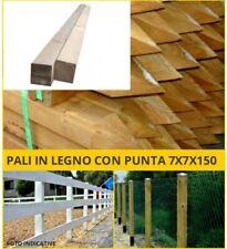 Palo in legno quadrato con a punta recinzione pali quadrati staccionata paletto