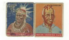 Lot of 2 different 1933 Goudey Indian Gum R73 Trading Cards; HB:$120