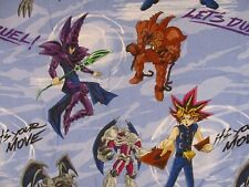 Yu-Gi-Oh Twin Flat Sheet Let's Duel Blue Novelty Fabric Material Craft DOM1G