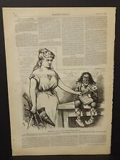 Harper's Weekly Required to Live Under New Order of Things Sketch 1875 A16#52