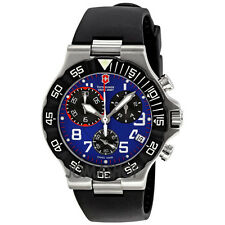 NEW Men's Victorinox Swiss Army 241406 Summit XLT Blue Chronograph MSRP $450