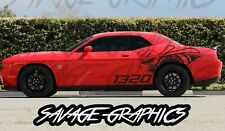 Large Dodge Challenger 1320 Quarter Panel Vinyl Graphic Decals r/t scatpack