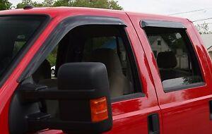 Tape-On Wind Deflectors: 1999-2006 Chevy Silverado Regular Cab (2-piece)
