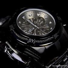 Invicta Bolt Zeus Combat All Black Swiss Quartz Chronograph 53mm Watch New