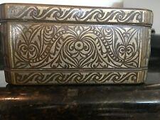 Stunning Betel Nut Box Silver Inlaid Bronze Philippines Circa 1910, Mb132