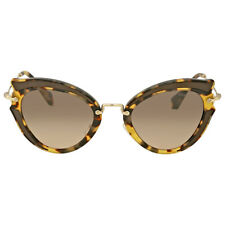 Miu Miu Light Brown Gradient Cat Eye Sunglasses