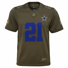 Nike NFL Dallas Cowboys Salute to Service #21 Elliott Football Jersey Youth XL