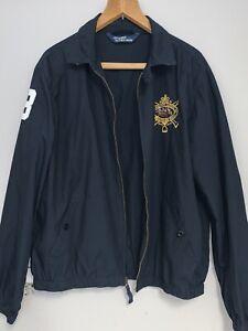 Vintage Mens POLO RALPH LAUREN Harrington Jacket Navy Size L VGC