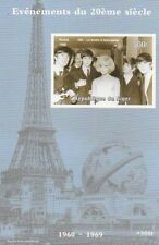 THE BEATLES CON SYLVIE VARTAN TORRE EIFFEL imperforated MNH STAMP SHEETLET