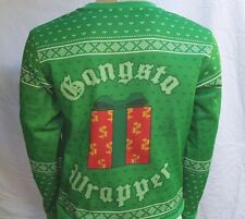 Gangsta Wrapper Unisex Long Sleeve T Shirt Ugly Christmas Sweater Mad Engine S