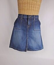 Abercrombie & Fitch Denim Pocketed Knee Length Skirt Size 4