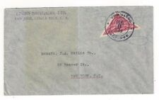1933 San Jose Costa Rica Triangle Single Franking to New York