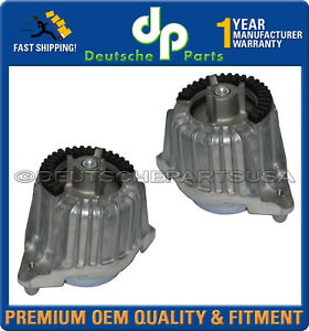 Mercedes W212 E350 BLUETEC HYDRO Engine Mount Mounts 2042405817 2042406017 SET 2