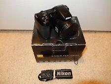 Black Nikon COOLPIX L820 16 MP Digital Camera 30x Zoom Lens and Full HD 1080
