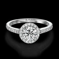 1 3/4 Carat Solitaire Round Cut Diamond Engagement Ring H/VS2-SI1 14K White Gold